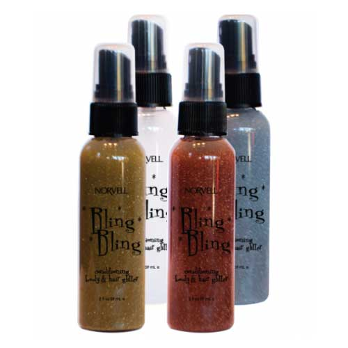 Bling Shimmer Evening Shimmer allows every spray tan session to sparkle! Add glitter to your airbrush tan with this product available at Tantrum Sunless Tanning.