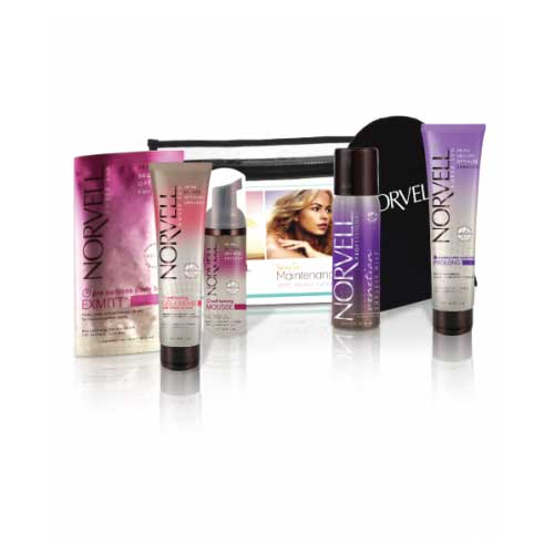 Norvell's Sunless Sampler is an exclusive 5-piece set containing Norvell's Self-Tanning Top Sellers in one convenient travel bag. Available at Tantrum Sunless Tanning.