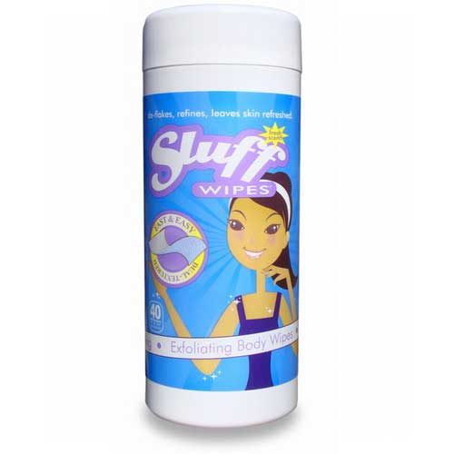 SluffWIPES quickly cleanse and exfoliate skin before sunless products are applied to help ensure DHA absorbs more effectively. Available at Tantrum Sunless Tanning.